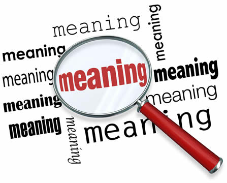 magnifying glass looking for meaning