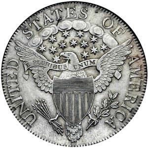 US coin with Latin phrase E pluribus unum