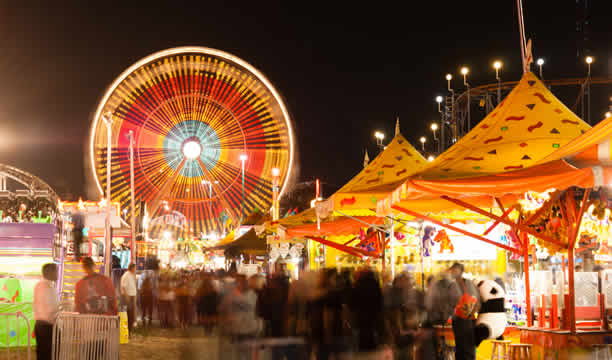 county fair at night