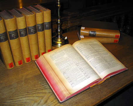 old multivolume dictionary