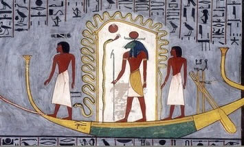 Egyptian Book of Gates Barque of Ra