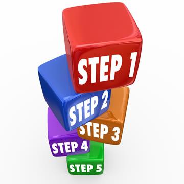 steps 1 through 5