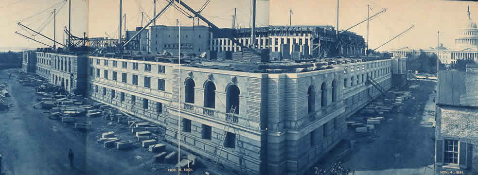 The Library of Congress under construction