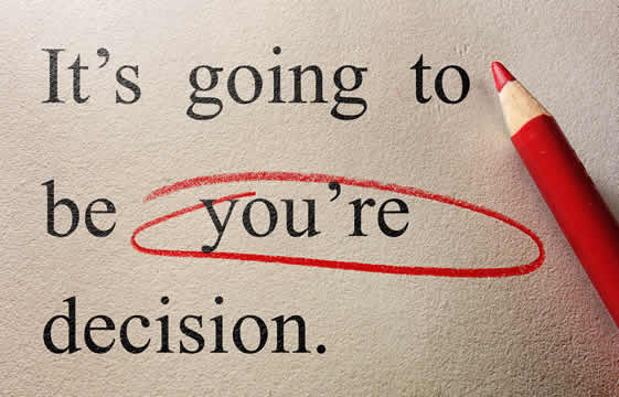 "edited text, with the misspelled word ""you're"" circled in red"