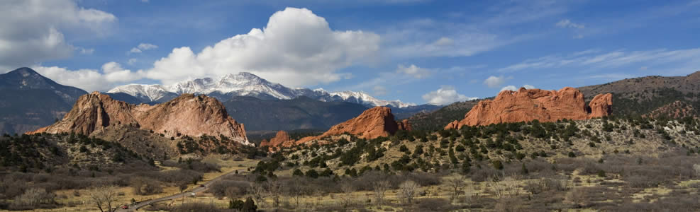 Pikes Peak in the Rocky Mountains, Colorado