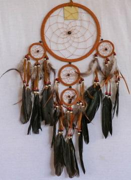 An image of an Indians made dream catcher