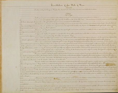 photo of the Constitution opening text
