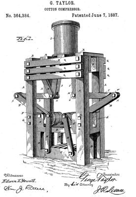 drawing of a farm machine of unknown size and purpose