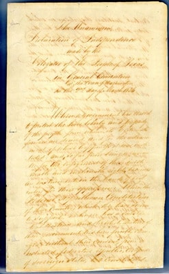first page of the handwritten document