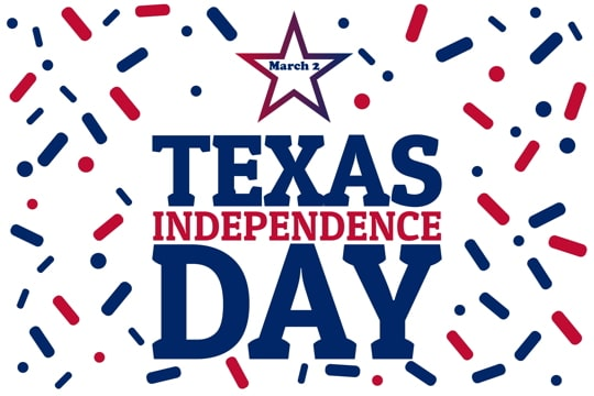 poster celebrating Texas Independence Day